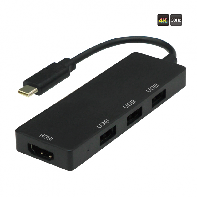 TYPE C to HDMI + USB 2.0 AFx3 Converter 1